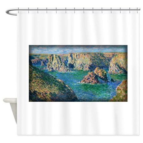 Port Donnant, Belle Ile, Monet, Shower Curtain