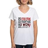 Heart attack Womens V-Neck T-shirts