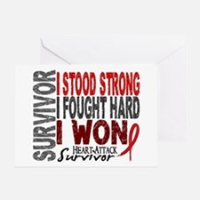 Survivor 4 Heart Attack Shirts and Gifts Greeting