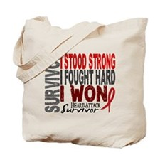 Survivor 4 Heart Attack Shirts and Gifts Tote Bag