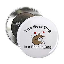 Best Rescue Dog Button