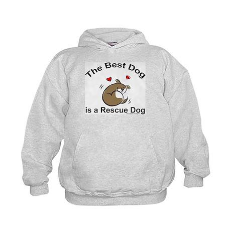 Best Rescue Dog Kids Hoodie