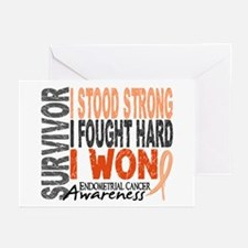 Survivor 4 Endometrial Cancer Shirts and Gifts Gre