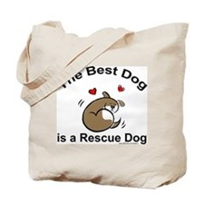 Best Rescue Dog Tote Bag