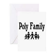 Poly Family Greeting Cards (Pk of 10)