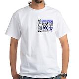 Colon cancer i beat Mens White T-shirts