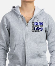 Survivor 4 Colon Cancer Shirts and Gifts Zip Hoodie