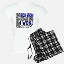Survivor 4 Colon Cancer Shirts and Gifts Pajamas