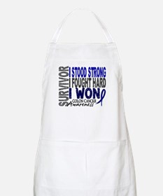 Survivor 4 Colon Cancer Shirts and Gifts Apron