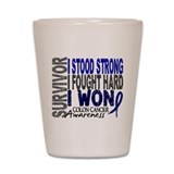 Colon cancer survivor Shot Glasses