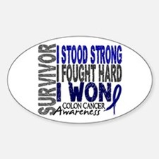 Survivor 4 Colon Cancer Shirts and Gifts Decal