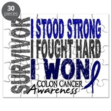 Survivor 4 Colon Cancer Shirts and Gifts Puzzle
