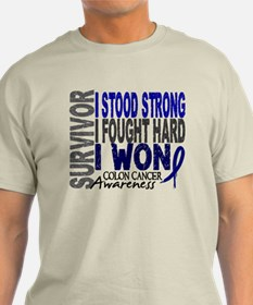 Survivor 4 Colon Cancer Shirts and Gifts T-Shirt