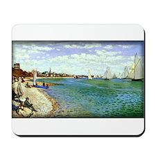 Regatta at Sainte-Adresse, Monet, Mousepad
