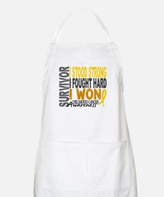 Survivor 4 Childhood Cancer Shirts and Gifts Apron