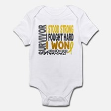 Survivor 4 Childhood Cancer Shirts and Gifts Infan