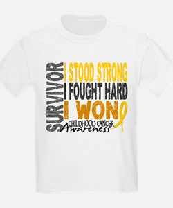 Survivor 4 Childhood Cancer Shirts and Gifts T-Shirt