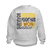 Survivor 4 Childhood Cancer Shirts and Gifts Sweatshirt