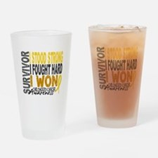 Survivor 4 Childhood Cancer Shirts and Gifts Drink