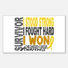 Survivor 4 Childhood Cancer Shirts and Gifts Stick
