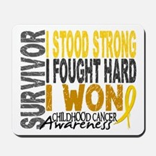 Survivor 4 Childhood Cancer Shirts and Gifts Mouse