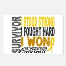 Survivor 4 Childhood Cancer Shirts and Gifts Postc