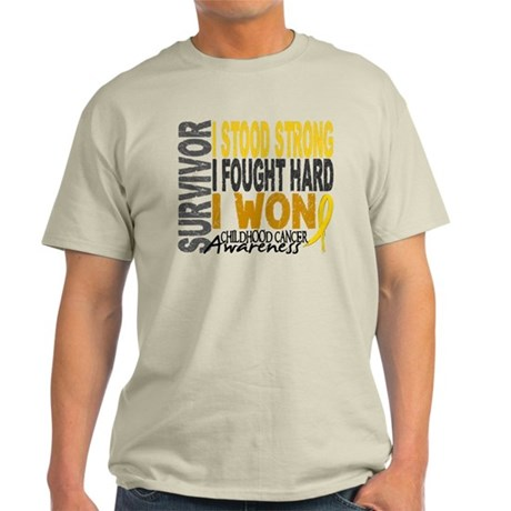 Survivor 4 Childhood Cancer Shirts and Gifts Light