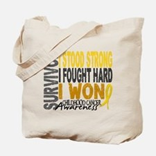 Survivor 4 Childhood Cancer Shirts and Gifts Tote