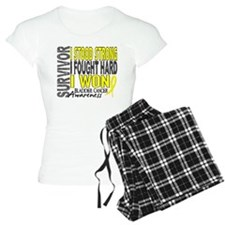 Survivor 4 Bladder Cancer Shirts and Gifts Pajamas