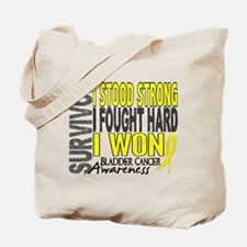 Survivor 4 Bladder Cancer Shirts and Gifts Tote Ba