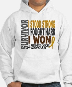Survivor 4 Appendix Cancer Shirts and Gifts Hoodie