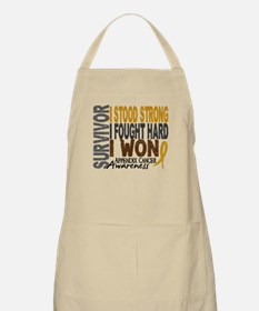 Survivor 4 Appendix Cancer Shirts and Gifts Apron