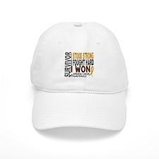 Survivor 4 Appendix Cancer Shirts and Gifts Baseball Cap