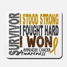 Survivor 4 Appendix Cancer Shirts and Gifts Mousep