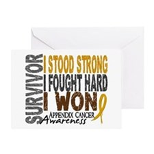 Survivor 4 Appendix Cancer Shirts and Gifts Greeti