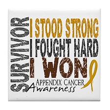 Survivor 4 Appendix Cancer Shirts and Gifts Tile C