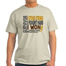 Survivor 4 Appendix Cancer Shirts and Gifts T-Shirt