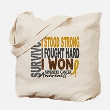 Survivor 4 Appendix Cancer Shirts and Gifts Tote B