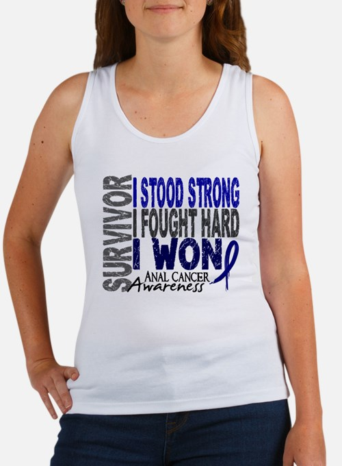 Survivor 4 Anal Cancer Shirts and Gifts Women's Ta