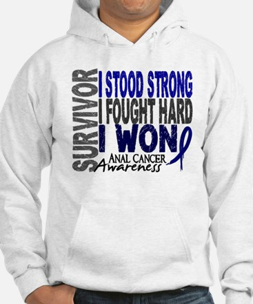 Survivor 4 Anal Cancer Shirts and Gifts Hoodie