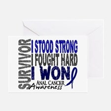 Survivor 4 Anal Cancer Shirts and Gifts Greeting C