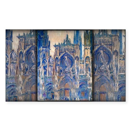 Rouen Cathedral, Study of the Portal, Monet, Stick