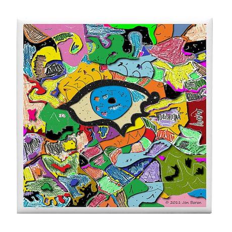 Eye Art Tile Coaster
