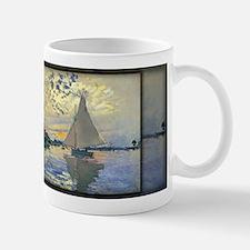 Sailboat at Le Petit-Gennevilliers, Monet, Mug