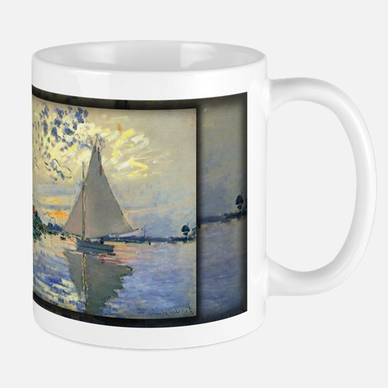 Sailboat at Le Petit-Gennevilliers, Monet, Mug