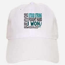 Survivor 4 Cervical Cancer Shirts and Gifts Baseball Baseball Cap