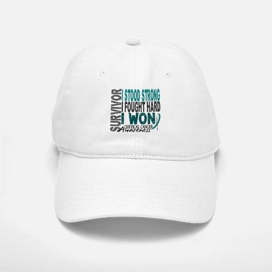 Survivor 4 Cervical Cancer Shirts and Gifts Hat