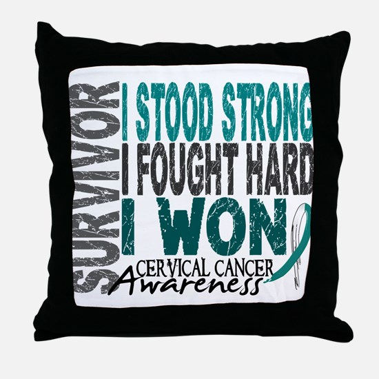 Survivor 4 Cervical Cancer Shirts and Gifts Throw