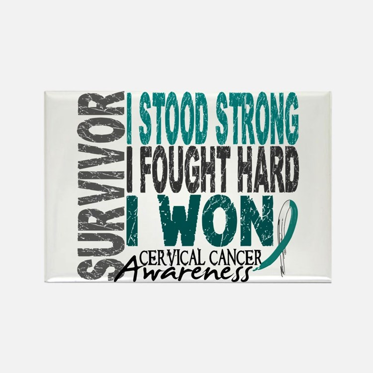 Survivor 4 Cervical Cancer Shirts and Gifts Rectan