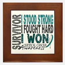 Survivor 4 Cervical Cancer Shirts and Gifts Framed